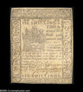 Colonial Notes:Delaware, Delaware May 1, 1777 6s Extremely Fine. Lightly and evenlycirculated....