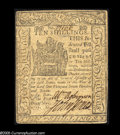 Colonial Notes:Delaware, Delaware May 1, 1777 10s Extremely Fine-About New. The margins areclose but clear all the way around the face. The back tou...