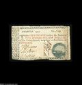 Colonial Notes:Georgia, Georgia 1777 $5 Green Seal Cannon Extremely Fine. The margins areirregular and touch in a few places, but are primarily cle...