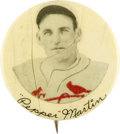 Baseball Collectibles:Pins, 1920-30s Pepper Martin St. Louis Button Company Pin. This vintagepin was produced some time between the late-1920s and mid...