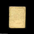 Colonial Notes:Massachusetts, Massachusetts August 18, 1775 5s Very Fine. Although ratherwell-circulated, this Sword-in-Hand note has not been repaired, ...