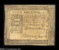 Colonial Notes:Pennsylvania, Pennsylvania March 20, 1773 4s Extremely Fine. A handsome, lightlycirculated note with the popular and somewhat scarcer Lig...