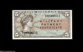 Military Payment Certificates:Series 691, Series 691 $5 Gem New. A gorgeous note from this unissued Vietnam-era series. The margins are close to perfect....