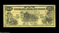 Canadian Currency: , Toronto, ON- Sterling Bank of Canada $5 Jan. 1, 1914 Charlton 700-12-02 The penned signature of the Pro. General Manager is...