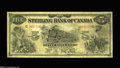 Canadian Currency: , Toronto, ON- Sterling Bank of Canada $5 Jan. 1, 1914 Charlton700-12-02 The Pro. General Manager signature is not found on ...