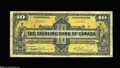 Canadian Currency: , Toronto, ON- Sterling Bank of Canada $10 Jan. 3, 1921 Charlton700-14-02 This issued $10 has retained some crispness, while...