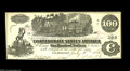 Confederate Notes:1862 Issues, T39 $100 1862. This Straight Steam variety has three interest paidat Richmond stampings on the back. Crisp Uncirculated. ...