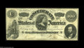 Confederate Notes:1862 Issues, T49 $100 1862. A couple of edge abrasions are found on this otherwise evenly circulated C-note. Fine-Very Fine....
