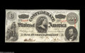 Confederate Notes:1863 Issues, T56 $100 1863. This is a delightful example of this C-note that hasnice colors and brown-inked signatures. Choice Crisp U...