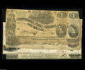 Confederate Notes:Group Lots, Six Confederate Notes, including T18 $20 1861 AG; T34 $5 1861 Fine;T39 $100 1862 two examples VG or better; T44... (6 notes)