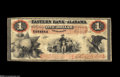 Obsoletes By State:Alabama, Eufaula, AL- Eastern Bank of Alabama $1 Mar. 15, 1860 G2a Rosene 68-1 This note combines rarity and grade into a highly des...
