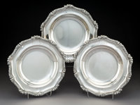 A Set of Three Paul Storr George III Silver Entree Serving Dishes, London, England, 1809 Marks: (lion passant), (c