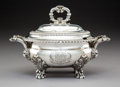 Silver & Vertu:Hollowware, A Paul Storr George IV Silver Covered Sauce Tureen, London, 1823. Marks: (lion passant), (crowned leopard), (duty mark), h...