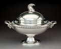 Silver & Vertu:Hollowware, A Tiffany & Co. Silver Covered Tureen with Helmet-Form Finial and Ram's Head Handles, New York, circa 1860. Marks: TIFFANY...