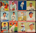 Baseball Cards:Singles (1930-1939), 1933 - 1936 Goudey & National Chicle Baseball Card Collection(12) - With HoFers. ... (Total: 12 card)