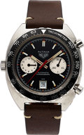 Timepieces:Wristwatch, Heuer Ref. 1163 V Steel Autavia Automatic Chronograph, circa 1972. ...