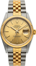 Timepieces:Wristwatch, Rolex Ref. 16233 Two Tone Gent's Oyster Perpetual Datejust, circa 1995. ...
