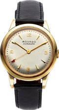 Timepieces:Wristwatch, Movado 'Bumper' Automatic14K Yellow Gold . ...