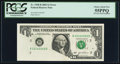 Error Notes:Foldovers, Pre-Face Print Foldover Error Fr. 1928-B $1 2003 Federal ReserveNote. PCGS Choice About New 55PPQ.. ...