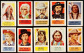 """Non-Sport Cards:Sets, 1949 R714-25 Topps """"X-Ray Round Up"""" Partial Set (72/200) PlusExtras (2). ..."""