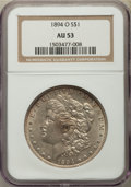 Morgan Dollars: , 1894-O $1 AU53 NGC. NGC Census: (583/2719). PCGS Population: (693/3250). CDN: $150 Whsle. Bid for problem-free NGC/PCGS AU5...