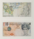 Prints & Multiples, After Banksy . Di-Faced Tenner, 10 GBP Note (two works), 2005. Offset lithograph in colors on paper. 3 x 5-5/8 inches (7...