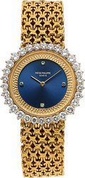 Timepieces:Wristwatch, Patek Philippe Lady's 18K Gold and Diamond Watch, Ref 4216/1. ...