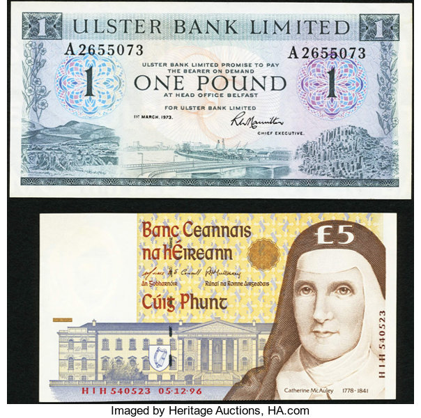World Currency Ireland And Northern Two Examples Total