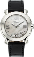"Timepieces:Wristwatch, Chopard Ref. 8475 Steel ""Happy Sport"" Lady's Quartz Wristwatch. ..."