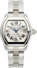 Timepieces:Wristwatch, Cartier Ref. 3312 Large Steel Automatic Roadster, circa 2002. ...