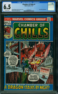 Chamber of Chills #1 (Marvel, 1972) CGC FN+ 6.5 OFF-WHITE pages