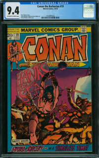 Conan the Barbarian #19 (Marvel, 1972) CGC NM 9.4 OFF-WHITE TO WHITE pages