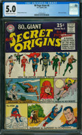 Silver Age (1956-1969):Superhero, 80 Page Giant 8 Secret Origins (DC, 1965) CGC VG/FN 5.0 OFF-WHITE TO WHITE pages.