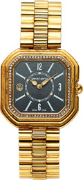 Timepieces:Wristwatch, Gerald Genta Ladies 18K Yellow Gold and Diamond Quartz Dress Watch. ...