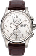 Timepieces:Wristwatch, Hamilton, Jazzmaster Automatic Chronograph, Ref. H32716859. ...