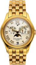 Timepieces:Wristwatch, Patek Philippe, Ref. 5036J, Annual Calendar Moonphase Automatic, 18K Case and Bracelet, Circa 2000s. ...
