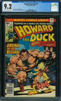 Howard the Duck #5 (Marvel, 1976) CGC NM- 9.2 OFF-WHITE TO WHITE pages