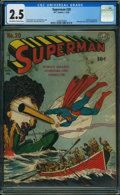 Superman #20 (DC, 1943) CGC GD+ 2.5 OFF-WHITE TO WHITE pages
