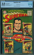 Golden Age (1938-1955):Superhero, Superman #100 - CBCS CERTIFIED (DC, 1955) CGC VG- 3.5 Off-white towhite pages.