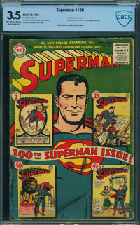 Superman #100 - CBCS CERTIFIED (DC, 1955) CGC VG- 3.5 Off-white to white pages