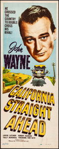 """Movie Posters:Action, California Straight Ahead (Realart, R-1948). Insert (14"""" X 36""""). Action.. ..."""