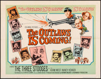 "The Outlaws is Coming (Columbia, 1965). Half Sheet (22"" X 28""). Comedy"