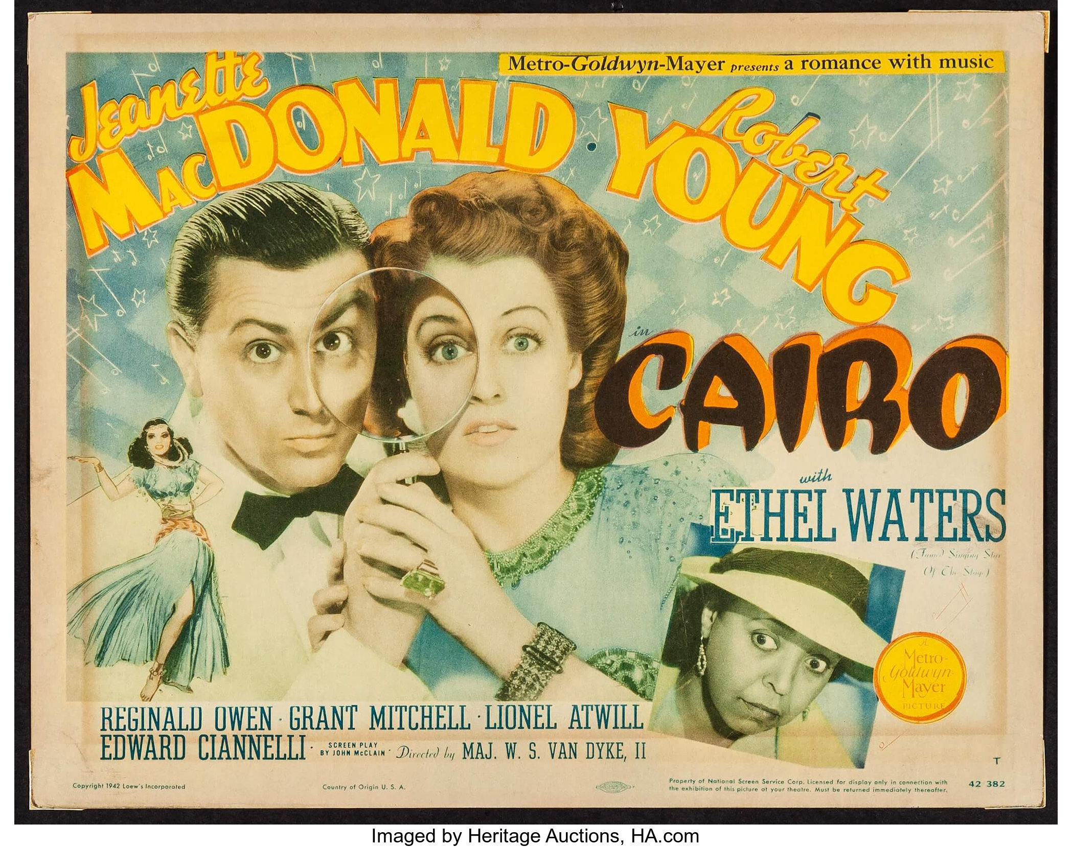 """Cairo (MGM, 1942). Title Lobby Card (11"""" X 14""""). Romance.. ... 