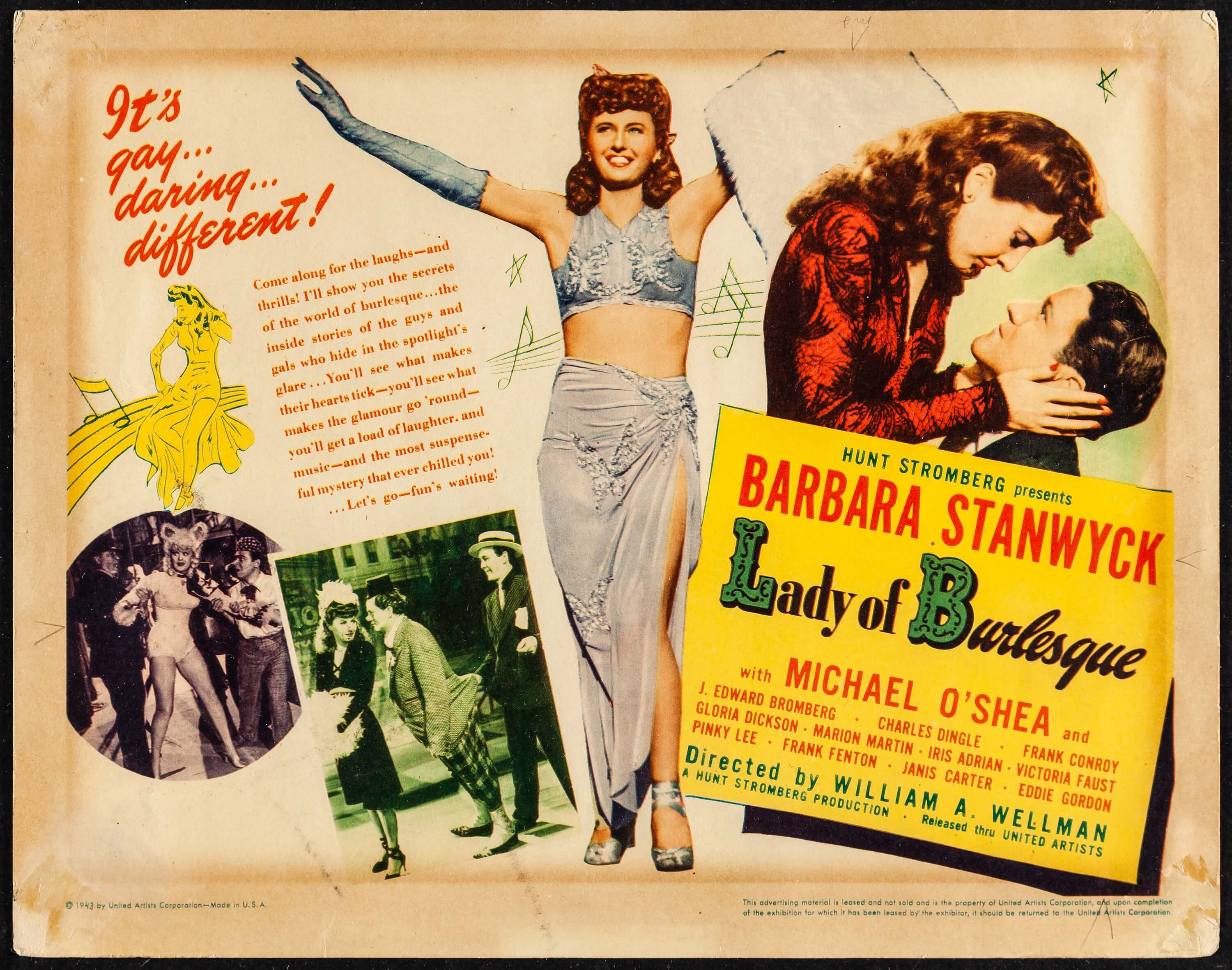 Lady of Burlesque (United Artists, 1943). Fine+. Title Lobby Card | Lot  #52243 | Heritage Auctions