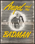 """Movie Posters:Western, Angel and the Badman (Republic, 1947). Uncut Pressbook (22 Pages, 12"""" X 15""""). Western.. ..."""