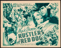 """Rustlers of Red Dog (Universal, 1935). Title Lobby Card (11"""" X 14""""). Serial"""