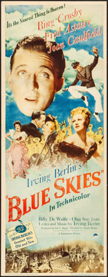 "Blue Skies (Paramount, 1946). Insert (14"" X 36""). Musical"