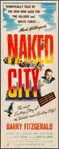 "Movie Posters:Crime, Naked City (Universal International, 1948). Insert (14"" X 36"").Crime.. ..."