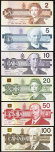 Canadian Currency, A Complete Denomination Set from Canada's Bird Series.. ... (Total:6 notes)