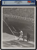 Baseball Collectibles:Photos, 1957 Mickey Mantle World Series Original Photograph by OsvaldoSalas, PSA/DNA Type 1 Signed by Photographer. ...
